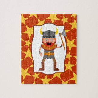 Viking Warrior Boy Birthday Party Jigsaw Puzzle