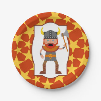 Viking Warrior Boy Birthday Party Paper Plate