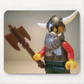 Viking Warrior Custom Minifigure with Battle Axe Mouse Pad