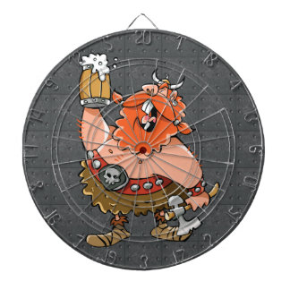 VIKING WARRIOR DARTBOARD WITH DARTS