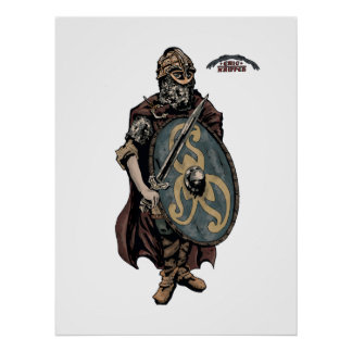 Viking warrior king of the Danes Print