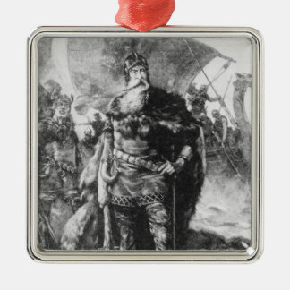 Viking Warrior Metal Ornament
