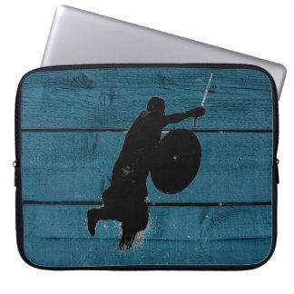 Viking warrior silhouette computer sleeves