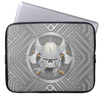 Viking Warrior Skull Laptop Computer Sleeve