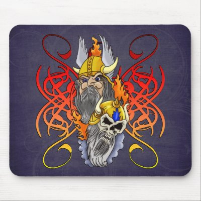 Viking Warrior Tattoo Mouse Pads by tattoodesigns