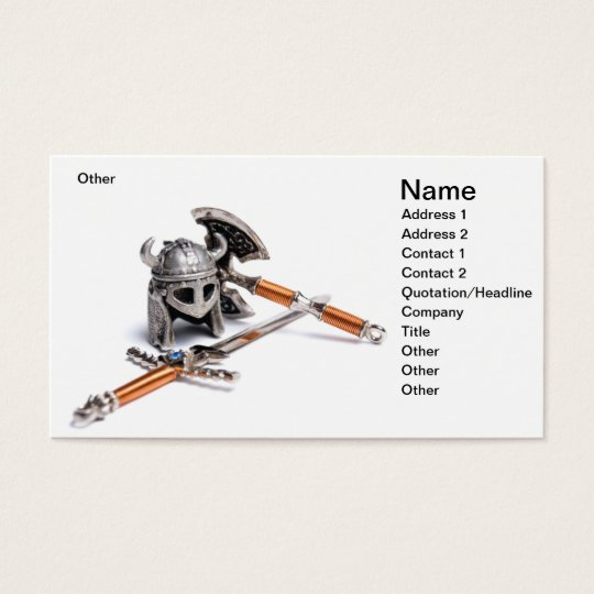 Viking weapon business card