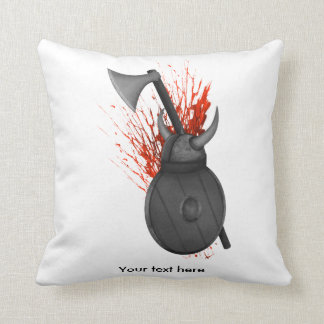 Viking Weapons and Blood Splatter Pillow