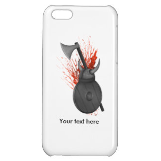 Viking Weapons  Of War And Blood Splatter Case For iPhone 5C