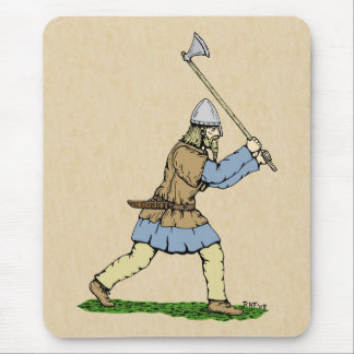 Viking Wielding Broad-Axe Mouse Pad