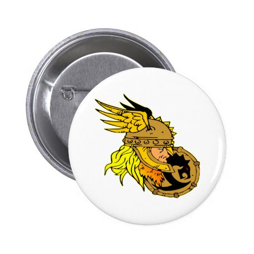 Viking with Shield Asgard Odin Thor Valhalla Buttons
