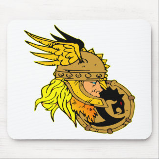 Viking with Shield Asgard Odin Thor Valhalla Mouse Pad