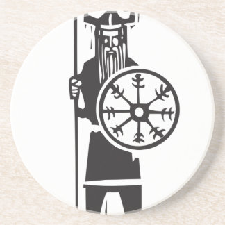 Viking with Spear Drink Coaster
