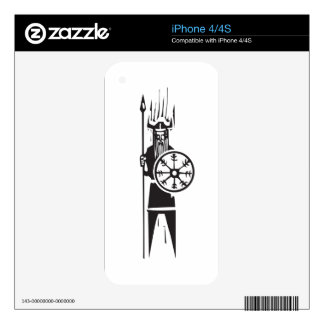 Viking with Spear iPhone 4 Decal
