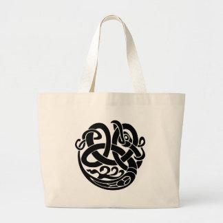 viking world serpent world eater Jormungandr Large Tote Bag