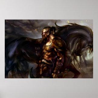 Viking y poster del caballo