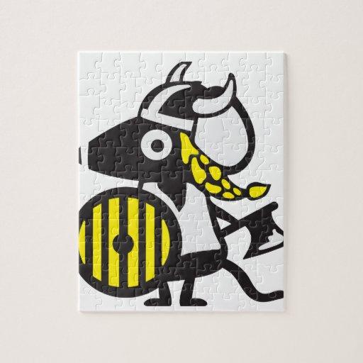 Vikingo ratón con hacha rompecabeza