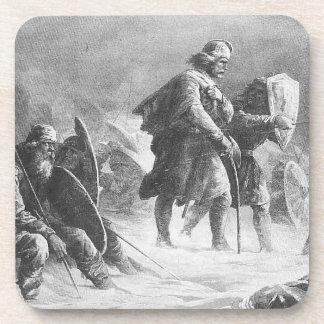 Vikingos en batalla posavaso