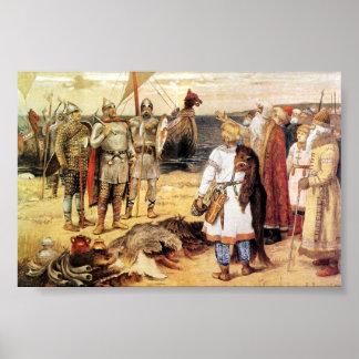 Vikingos en la orilla poster