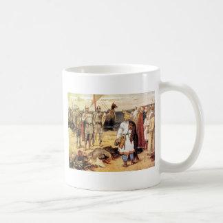 Vikingos en la orilla taza clásica