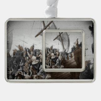 Vikingos en lancha adornos navideños