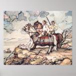 Vikingos estonios a caballo, Watercolour Posters