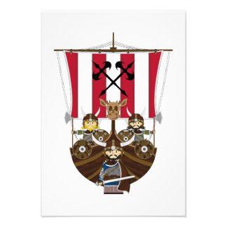 Vikingos feroces en la tarjeta de Longship RSVP Comunicados Personales