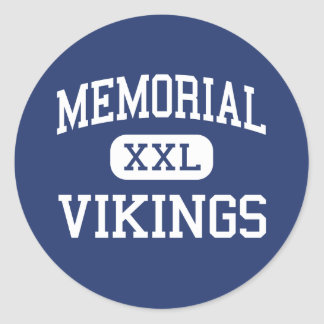 - Vikingos - joven conmemorativo - Whippany New Pegatina Redonda