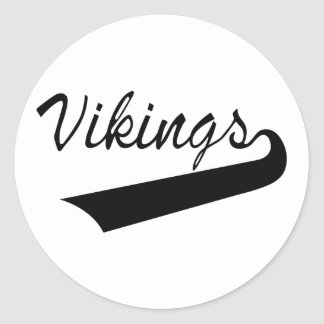 Vikingos Pegatina Redonda