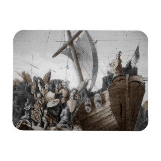 Vikingos que asaltan una lancha imán de vinilo