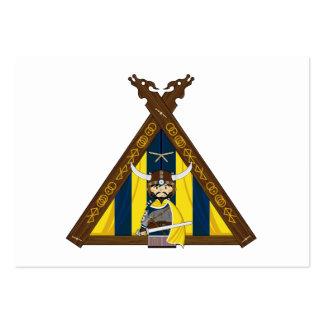 Vikingos y señal feroces de la tienda tarjetas de visita grandes