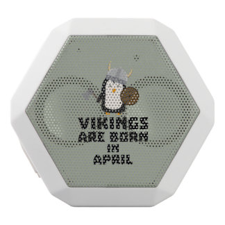 Vikings are born in April Zs047 White Bluetooth Speaker