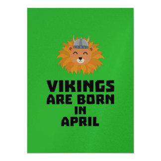 Vikings are born in April Zxa47 Card