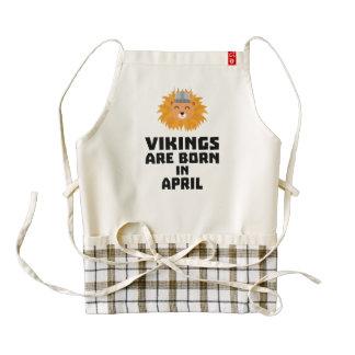 Vikings are born in April Zxa47 Zazzle HEART Apron