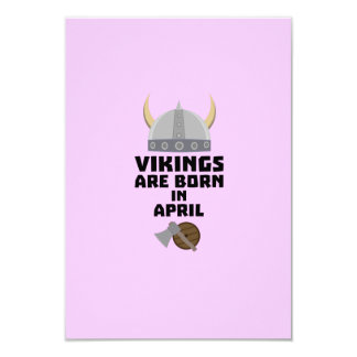 Vikings are born in April Zxs00 Card