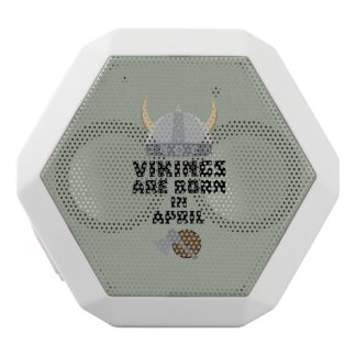 Vikings are born in April Zxs00 White Bluetooth Speaker