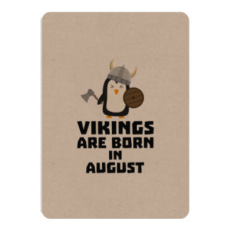 Vikings are born in August Z65ks Card