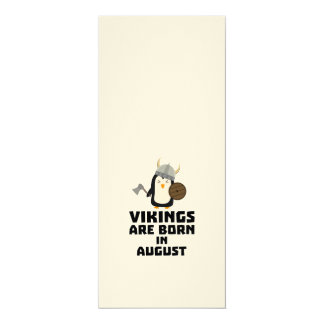 Vikings are born in August Z65ks Card