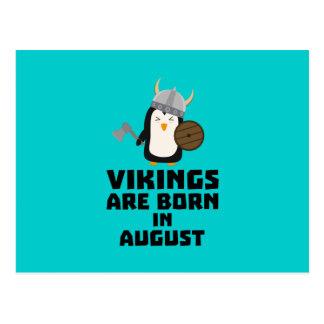 Vikings are born in August Z65ks Postcard