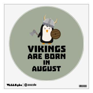 Vikings are born in August Z65ks Wall Sticker