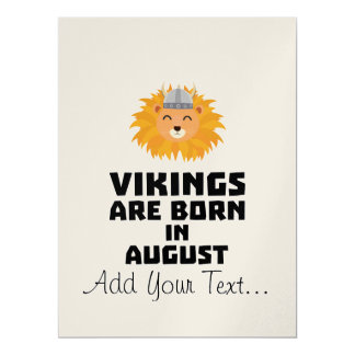 Vikings are born in August Z7v9w Card