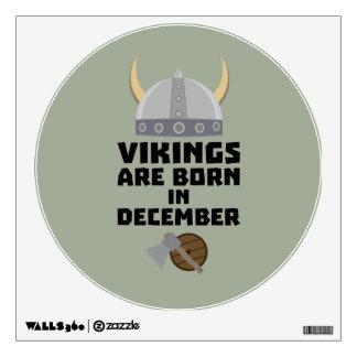 Vikings are born in December Zzun4 Wall Sticker