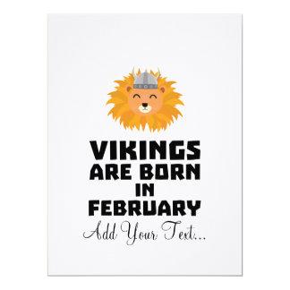 Vikings are born in February Z2htp Card