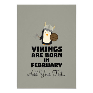 Vikings are born in February Zf393 Card