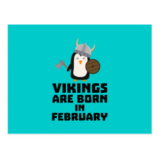 Vikings are born in February Zf393 Postcard