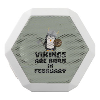 Vikings are born in February Zf393 White Bluetooth Speaker