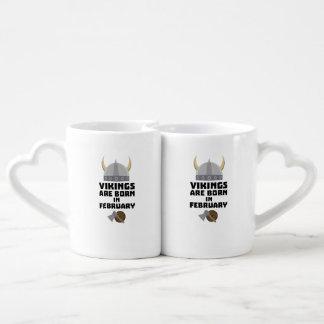Vikings are born in February Zh6oh Coffee Mug Set