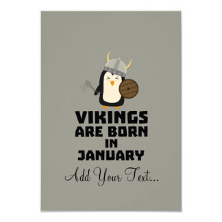 Vikings are born in January Zmwc7 Card