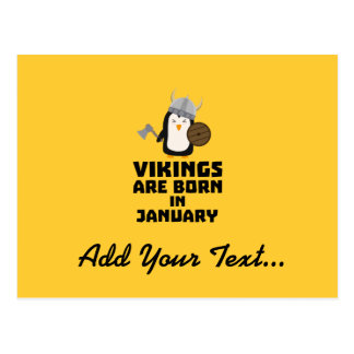Vikings are born in January Zmwc7 Postcard