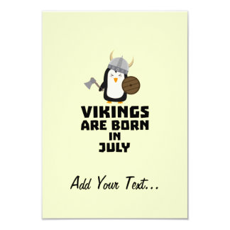 Vikings are born in July Z8p0q Card