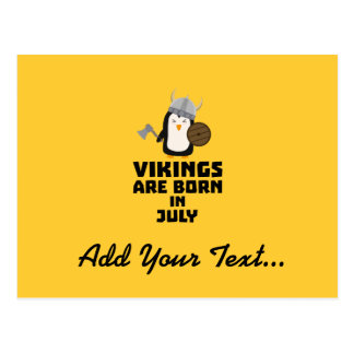 Vikings are born in July Z8p0q Postcard
